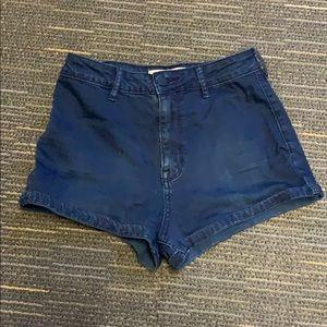 PacSun Bullhead Denim high rise cheeky jean shorts